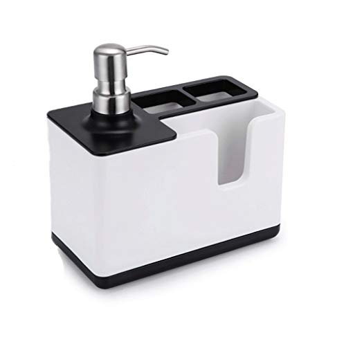 ZJY Zeep Dispenser Multifunctionele Zeepdispenser Dispenser Organizer Tandpasta Tandenborstel Dispenser Badkamer Accessoires Vloeibare Zeep Opbergdoos Zeepdispensers