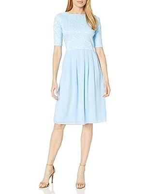 Jen Clothing Jada Modest Dress, Modest Bridesmaid Dress or Modest Prom Dress (S, Light Sky Blue)