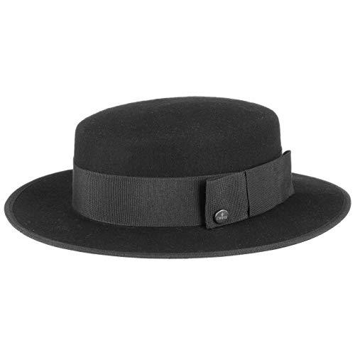 Lierys Cirkelzaag Vilthoed Dames/Heren - Made in Italy wollen hoed wolvilthoed met ripsband paspelrand voor Zomer/Winter