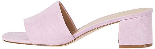 Marchio Amazon - FIND Block Heel Mule Sandali a Punta Aperta, Rosa (Pink), 40 EU