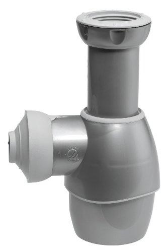 Wirquin 31180501 - Sifón y universal para la cuenca del gris metalizado