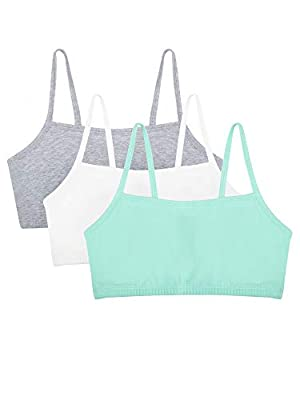 Fruit of the Loom womens Cotton Pullover Sport Bra, mint chip/white/grey heather 40 by Fruit of the Loom