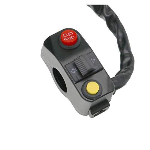 linger Motocicleta Universal Multifunción Faro de Giro Interruptor de la señal de la señal de la aleación de Aluminio Flasher 22mm Interruptores de Manillar