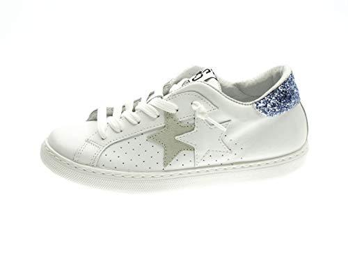 Twostar 2SD2611 - Zapatillas deportivas para mujer, color blanco Bianco 40