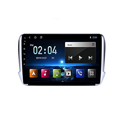 Coche De Radio Reproductor De Radio FM Unidad De Audio Estéreo para Coche 9 Pulgadas Navegación GPS, con Cámara De Respaldo, para Peugeot 2008 2014-2018,Quad Core,4G WiFi 1+32