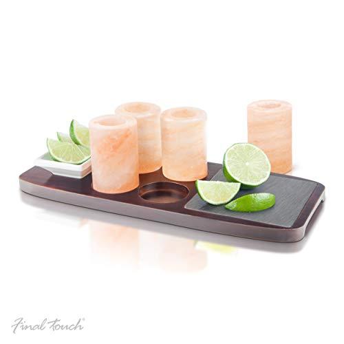 Final Touch Tequila - Juego de 7 vasos de chupito de sal
