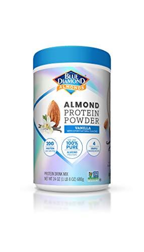 Blue Diamond Almonds Almond Protein Powder, Vanilla - 20g Protein, Plant Based, Vegan, Gluten Free, Non Dairy, Non-GMO, 100% Pure Almond Protein, 24 Ounce
