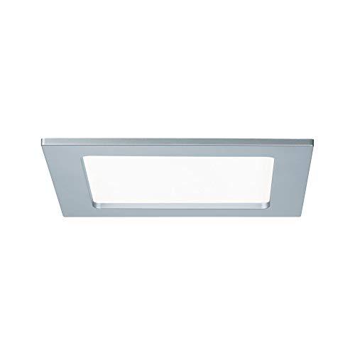 Paulmann 92077 Einbaupanel LED eckig Deckenleuchte 12W Licht 4000K Neutralweiß LED Panel Chrom matt IP44 spritzwassergeschützt inklusive Leuchtmittel