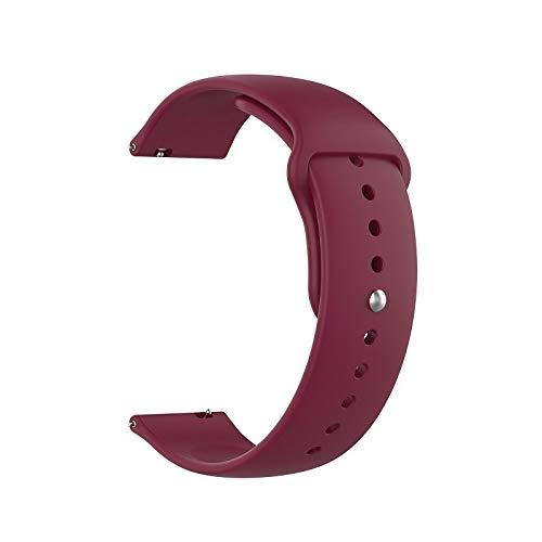 LIHAITAO Horlogebandje Voor Samsung Galaxy Active 2 R830 40mm R820 44mm Smart horloge Sport Band Silicone armband