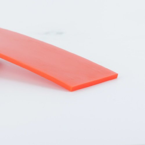 High-Performance Urethane Flat Belting, 2 inch Width, 10 ft Length, Orange