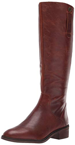 Franco Sarto Women's Becky Knee High Boot, Cognac Tumbled Leather, 7.5 M US