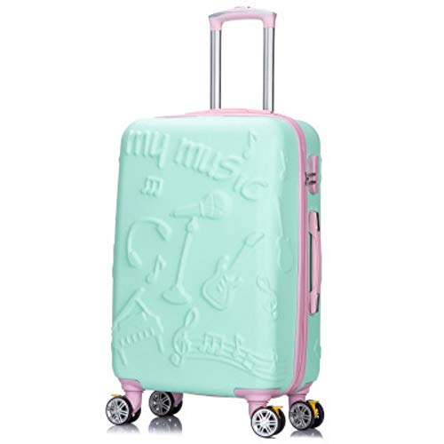 LLdy Trolley Maleta Trolley Infantil ABS Equipaje Universal Rueda Equipaje Caja de Aire 20 Pulgadas Trolley Maleta púrpura, 20, Verde Caramelo