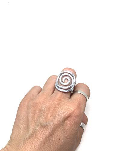 anello in alluminio,anello donna.anello leggero,anello a spirale, anello tribale