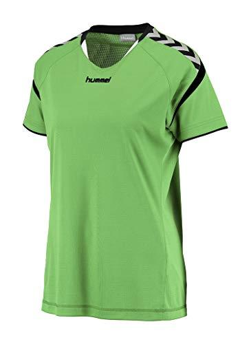 hummel Damen AUTH. Charge Short Sleeve Poly Jersey WO Trikot, Green Gecko, XL