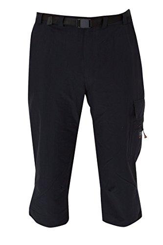 Deproc Active Herren KENTVILLE 7/8 elastische Outdoorhose Hose, black, 48