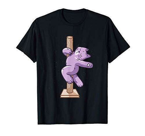 Arbre à chat cadeau pole dance T-Shirt