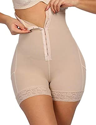Lover-Beauty High Waist Shapewear Slimmer Body Shaper for Women Weight Loss Seamless Boyshorts Beige 6XL by