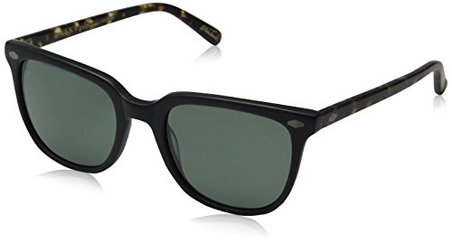 Raen Arlo Polarized Wayfarer Sunglasses, Matte Black/Matte Brindle, 53 mm