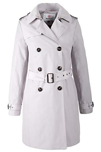 Grimada F3773 Damen Mantel Trenchcoat Melisa (M, grau)