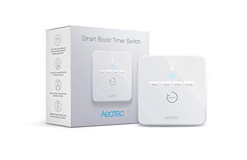 Aeotec ZWA006-C Timer Switch ZWA006 Smart Boost timer, Z-Wave Plus S2 met SmartStart, 16 ampère, monitor-stroomverbruik, backupacku, 230 V, wit, klein, klein