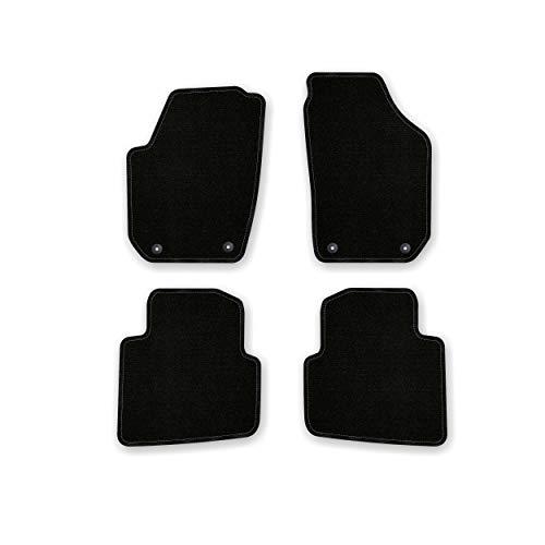 Bär-AfC SK03527 Basic Auto Fußmatten Nadelvlies Schwarz, Rand Kettelung Schwarz, Set 4-teilig, Passgenau für Modell Siehe Details