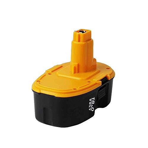 SHGEEN Batería de repuesto para Dewalt DE9098, DE9095, DE9096, DE9039, DW9096, DW9096, DW9095, DW9098 y DE9503 (18 V, 3 Ah, Ni-MH)