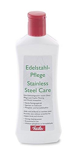 Fissler Edelstahl-Pflege – Hochwertige Pflege für Edelstahl, Messing, Chrom und Kupfer – 021-001-90-001/0 – 250 ml