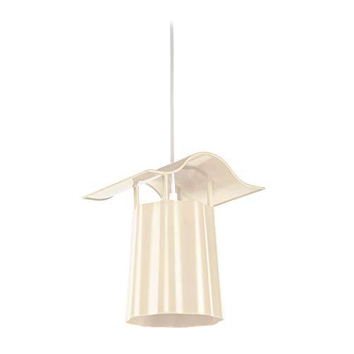 Homemania ASZ.0829 Lampada A Sospensione Tree Lantern Crema In Polistirene Cristallo, 22 X 19 X 70 Cm
