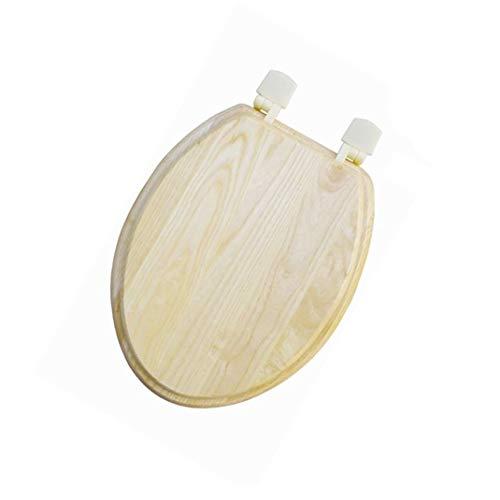 Massief hout verdikte wc-deksel wc-bril zal nooit los en gemakkelijk te verwijderen voor eenvoudig schoon O