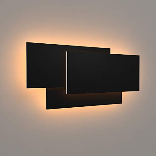 """Ralbay 15.75""""/36W LED Modern Wall Sconce Indoor Matte Black Wall Mount Light for Living Room Bedroom Staircase Hallway Warm White 3000K"""