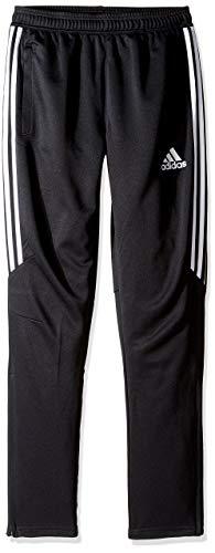 adidas Youth Soccer Tiro 17 Pants, Small - Black/White/White