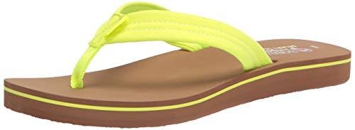 Skechers Women's Bobs Sunset Flip-Flop, Neon Yellow, Numeric_9