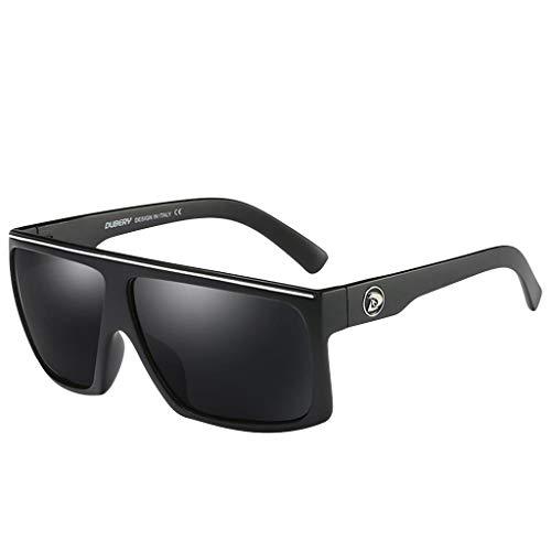 Gafas de Sol para Hombre Clásico Lujo Retro UV400 Lentes cuadradas moda Tendencia para Deportes al aire libre Golf Ciclismo Pesca Senderismo Conducción MMUJERY