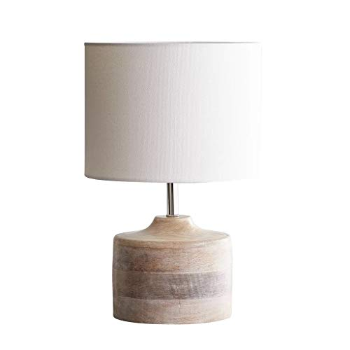 Lámpara de Mesa Mesita de luz de la lámpara, moderno diseño simple lámpara de escritorio con la tela de la cortina y de madera de base perfecto for el hogar, dormitorio, sala de estar, oficina Lámpara