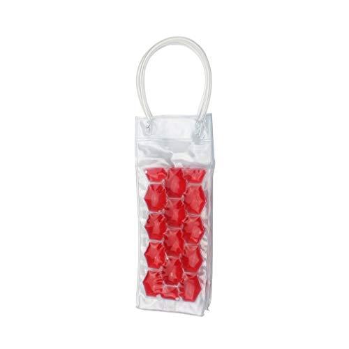 Botella de Vino Bolsa de congelador Enfriador de enfriamiento Bolsa de Hielo Soporte de Gel de enfriamiento de Cerveza Rojo