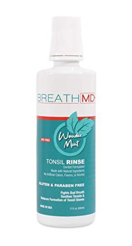 BreathMD Tonsil Rinse for Tonsil Stones - Alcohol & Dye Free