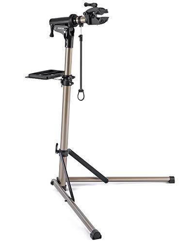 ROCES 自転車 メンテナンススタンド 安定感抜群 高さ調節 角度調節 ワークスタンド 折りたたみ式 工具トレー付 軽量 コンパクト 収納、持ち運びに便利 RS100