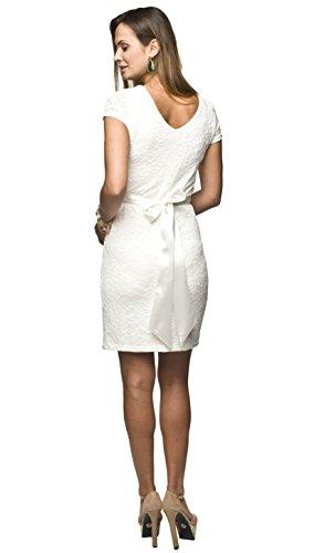Elegantes und bequemes Umstandskleid, Brautkleid, Hochzeitskleid für Schwangere Modell: Lace, weiss/creme - 3