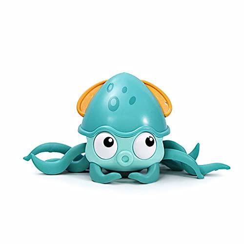 ANIPP Juguetes de baño de pulpo relojería, juguete flotante lindo pulpo gatear juguete,Juguete anfibio pulpo para bebé