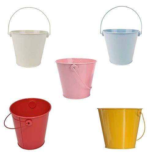 STOBOK 5 mini cubos de regalo para invitados de varios colores, para bodas, fiestas, bautizos, dulces, decoración de mesa, bomboneras, con asa, balcón, maceta, cubo de cactus