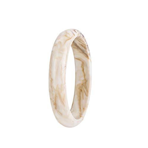 ciriQQ - Pulsera de resina redonda para mujer, estilo vintage, retro, con diseño de flores, para manualidades, decoración creativa, diseño
