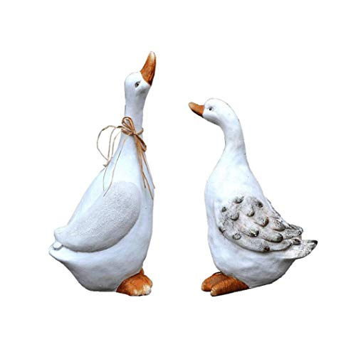 FYHH-JZHY Goose Garden Decoration,White Swan Sculpture Bird Garden Statue Sculpture Ornament Garden Friends Simulation Animal Sculpture