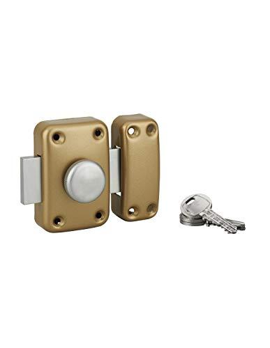 Serrupro – Türverriegelung mit Knopf und Zylinder – 50 mm