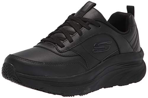 Skechers womens Lace Up Athletic Styling Health Care Professional Shoe, Black, 5 US