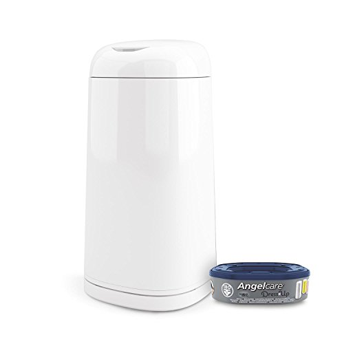 Angelcare - Dress up - Poubelle à Couches + 1 recharge - Anti Odeurs et Grande Capacité - Usage Simple - Blanc