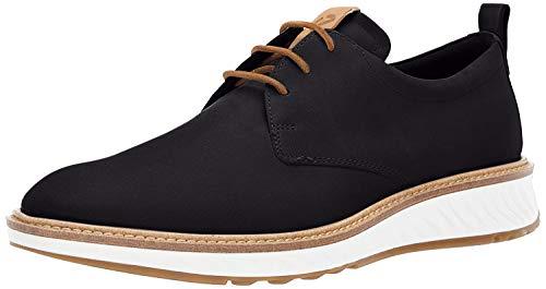ECCO Men's ST1 Hybrid Plain Toe Shoe, Black Nubuck, 44 M EU (10-10.5 US)