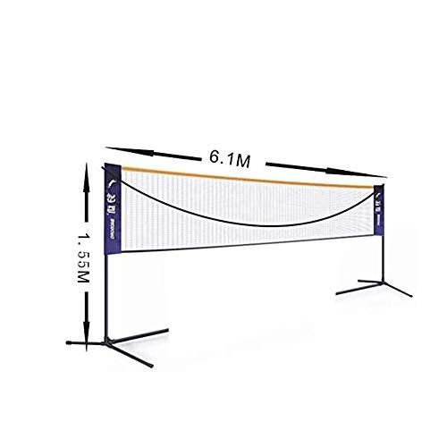 Einstellbare Höhe Tragbare Badminton Net Set - Wettbewerb Multi Sport Indoor oder Outdoor-Net for das Spielen Pickleball, Kinder Volleyball, Fußball Tennis, Lawn Tennis - Einfache und schnelle Montage