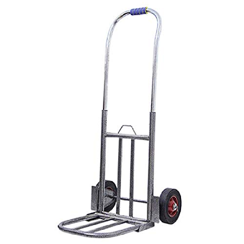 MIZE Stainless Steel Folding Fishing Trolley with Anti Puncture Silent Wheel and 151 kg Capacity,Silver Foldaway Trolley for Sack Trolley