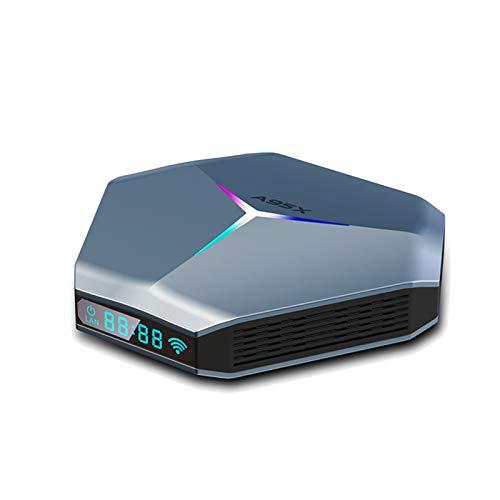 ALLWIN Android 11.0 TV Box [2021 más Nuevo], decodificador de Cuatro núcleos con 4 GB de RAM y 64 GB de ROM, Reproductores Multimedia de transmisión con 2,4 / 5G, WiFi de Banda Dual, Bluetooth 3.0