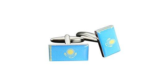 Flaggenfritze® Manschettenknöpfe Fahne / Flagge Kasachstan